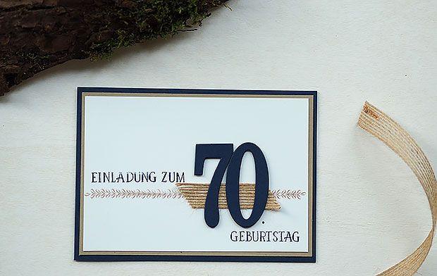 So viele Jahre Bordueren und mehr Einladung 70 Geburtstag Stampin' up! Bastelritter
