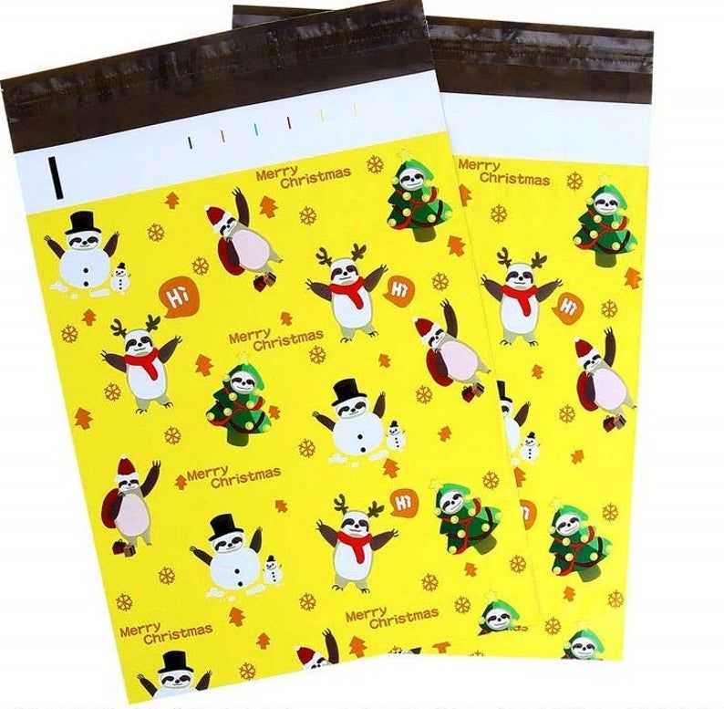 10 10x13 Designer Christmas Pack Mailers Poly Shipping Envelopes Boutique Bags