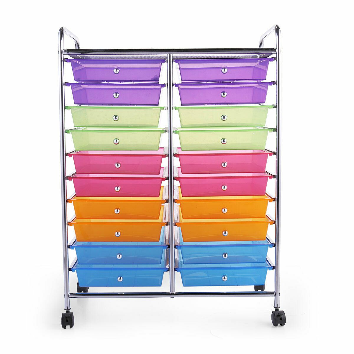 Details About 10 Layers Storage Cart Trolley Organizer W 20 Plastic Drawers 4 Rolling Wheels In 2020 Storage Cart Shelf Baskets Storage Rolling Storage Cart