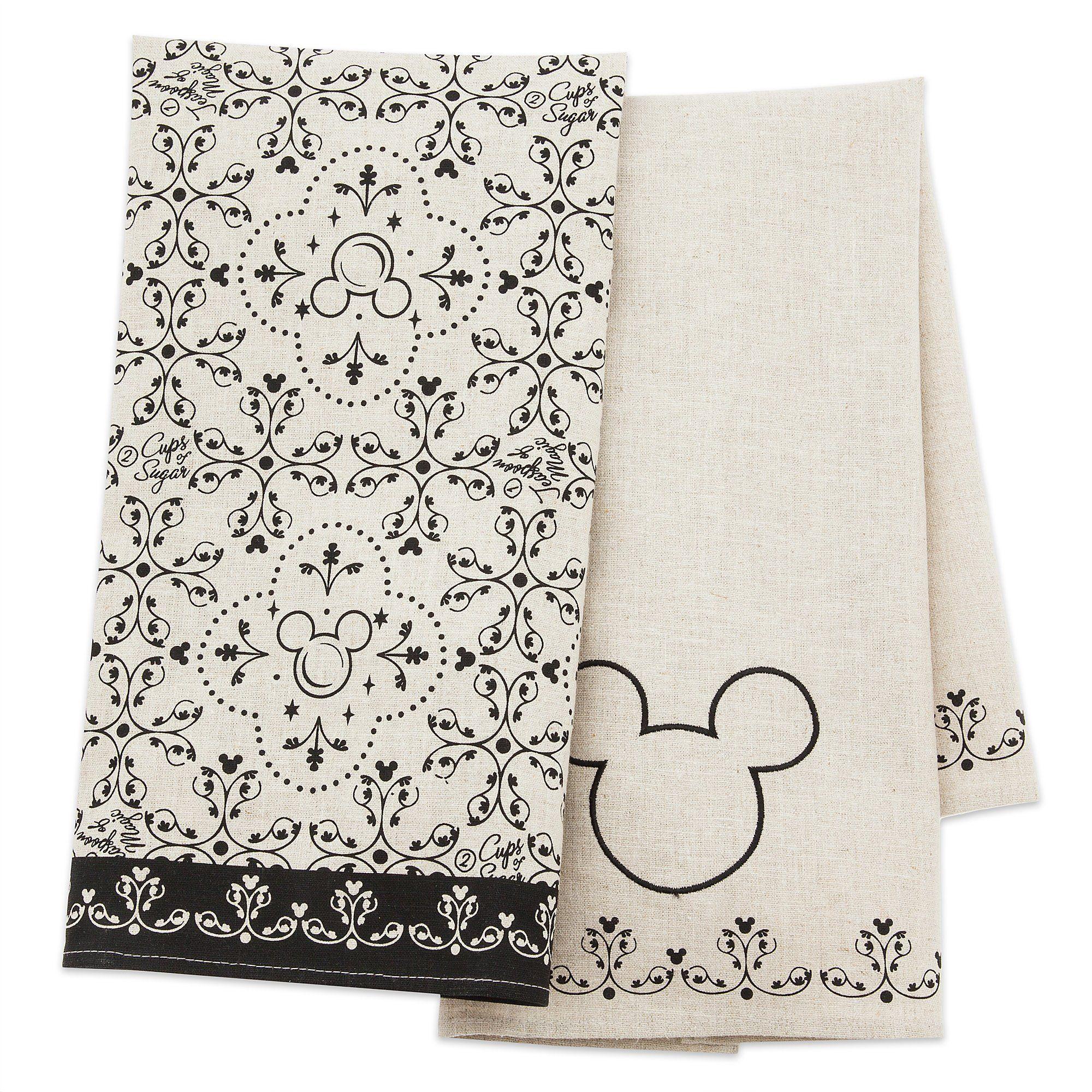 Disney Parks Gourmet Mickey Mouse Icon 2 Pc. Woven Kitchen Towel Set