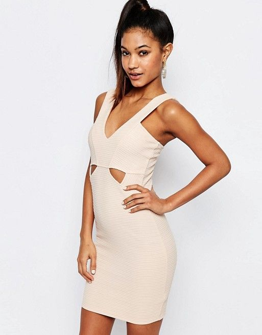 c4d80f78caca3 Ariana Grande for Lipsy Ribbed Bodycon Cut Out Dress | Dresses ...