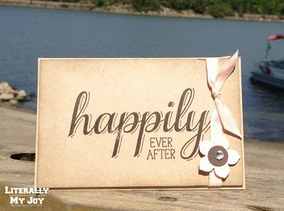 Happily ever after stampin up big news gift card holder