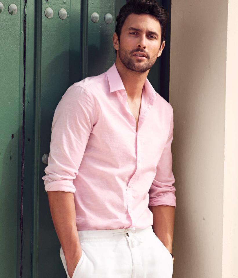 Noah Mills - pink shirt - men\'s casual summer style   sminka ...