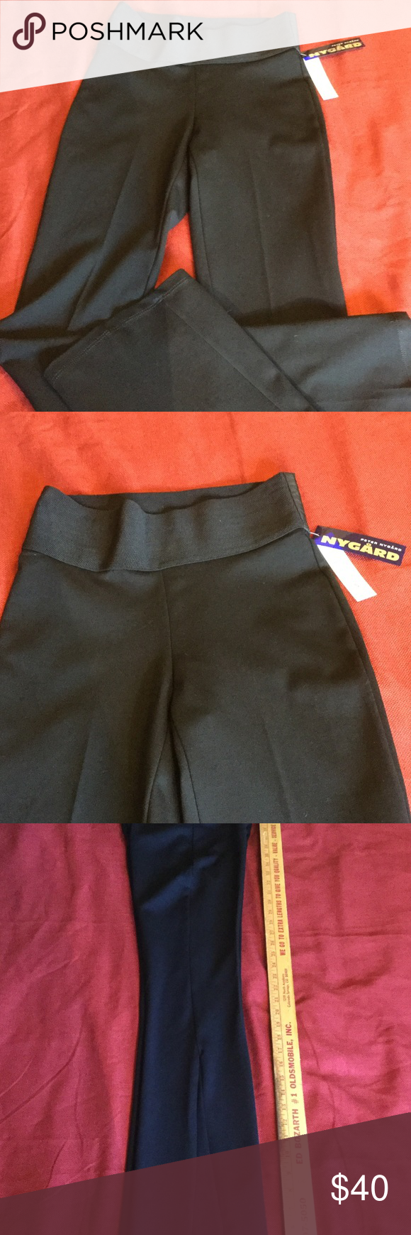 Nygard Slims Bootcut Ponte Knit Pants NWT Nygard Slims bootcut ponte knit pants. Size 6-8 Missy Tall. These lovely ponte knit pants run small, and are definitely a 6 rather than an 8. .The inseam measures 34 inches and the waist band measures 13 1/2 .  Nygard Slims Pants Boot Cut & Flare