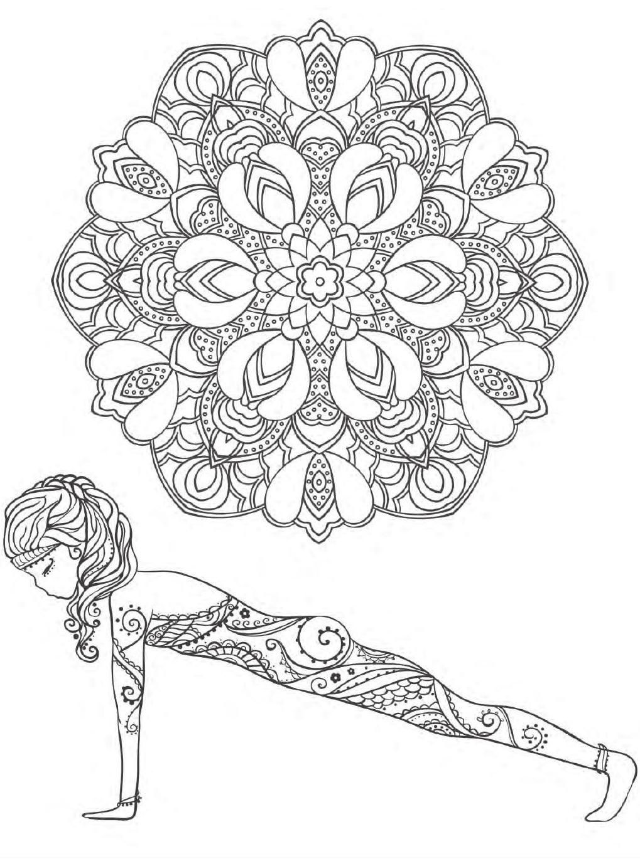 Yoga And Meditation Coloring Book For Adults With Yoga Poses And Mandalas Mandala Coloring Pages Mandala Coloring Yoga Art [ 1370 x 1019 Pixel ]