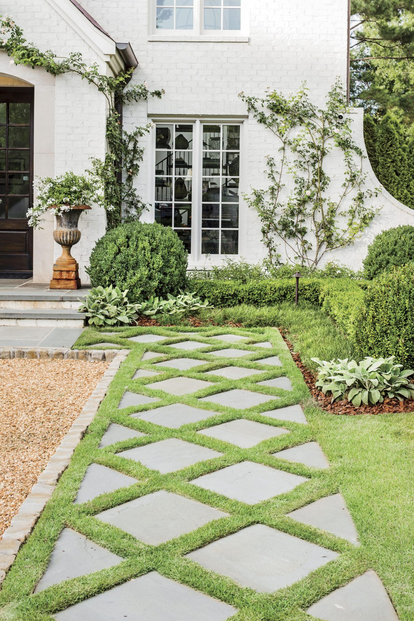 How Landscaping Added Instant Charm To This New Birmingham Home Outdoor Landscaping Outdoor Gardens Home Landscaping