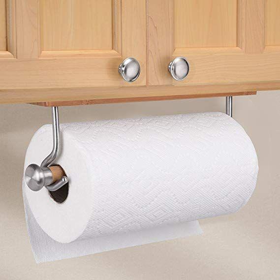 Amazon Com Interdesign Formbu Paper Towel Holder For Kitchen Wall Mount Bamboo Brushed Stainless Stee Paper Towel Holder Towel Holder Towel Holder Bathroom Stainless steel paper towel holder wall mount