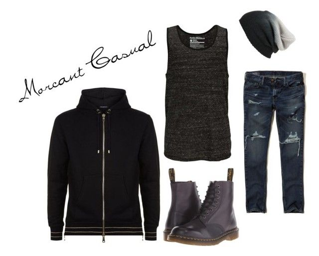 """M#1"" by cortohdow ❤ liked on Polyvore featuring Hollister Co., Dr. Martens, Hurley, Balmain and BP."