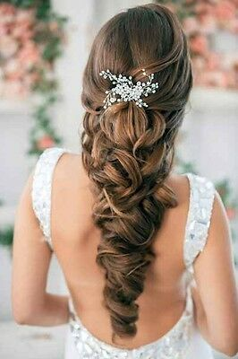 Details about Bridal Crystal Pearl Wedding Proms Hair Vine Comb Pin Headpiece
