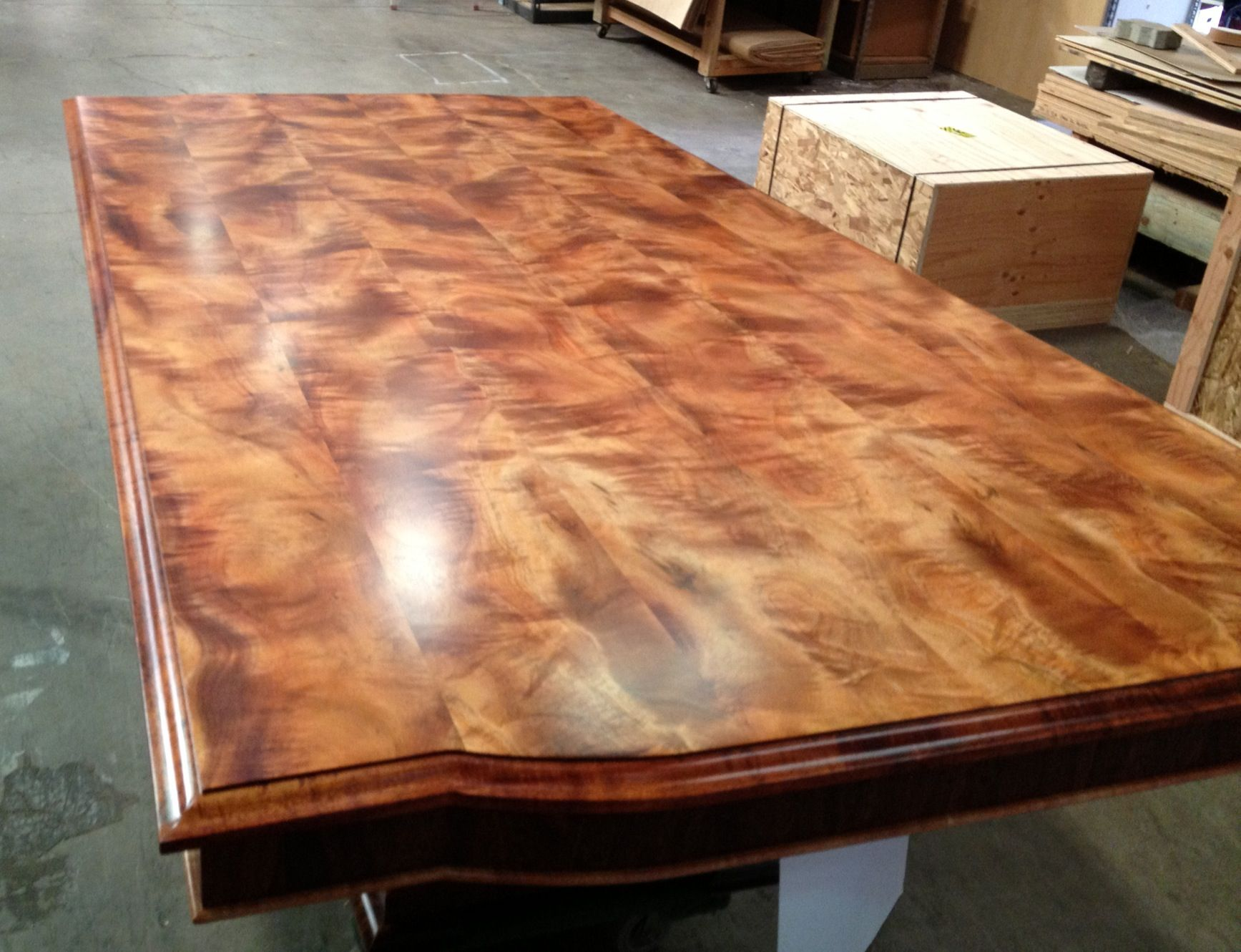 Highly Figured Koa Table Made In Hawaii By The Master Craftsmen Of Www Martinandmacarthur