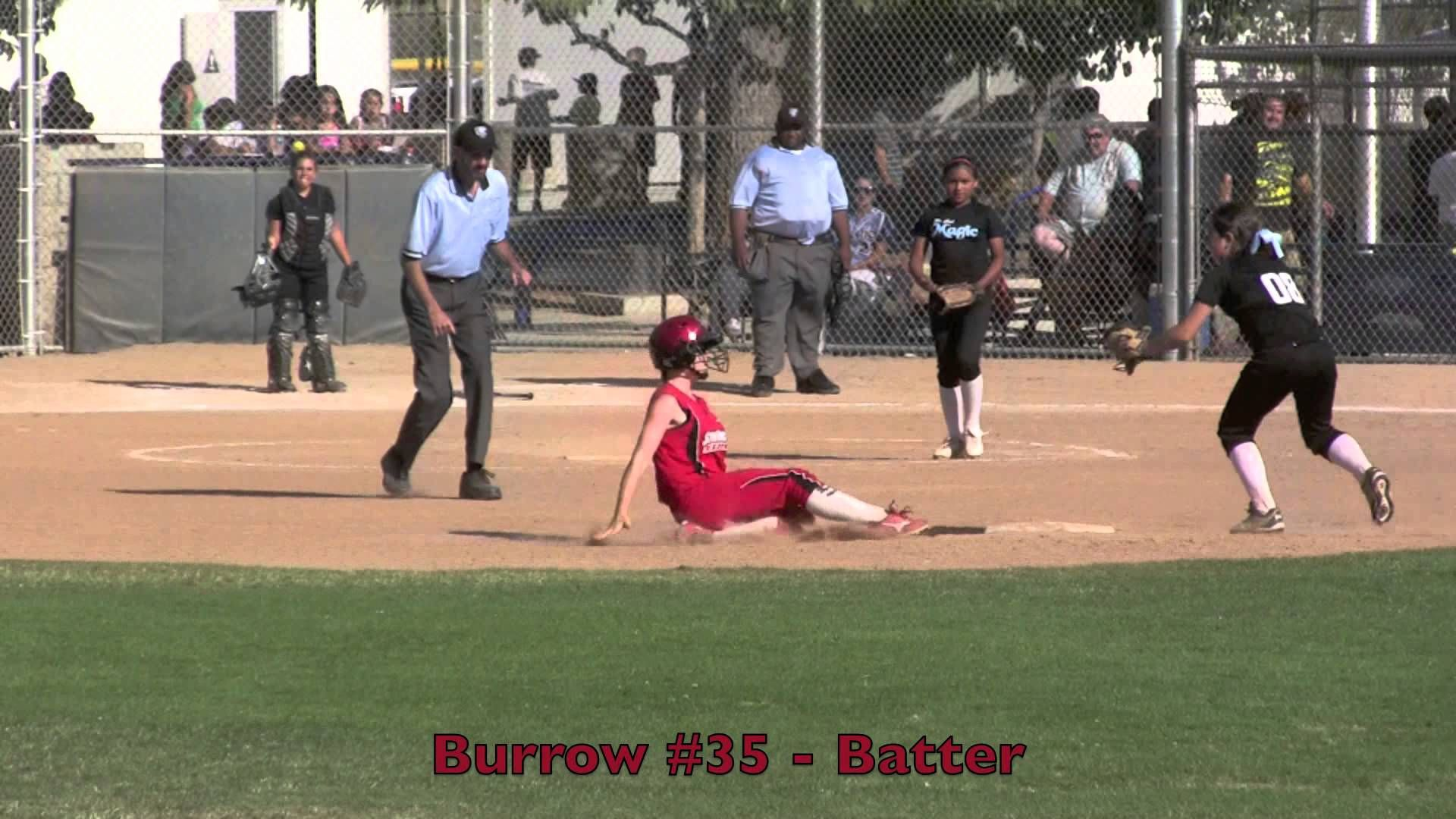 Emily Burrow Lead Off Double, Stealing 3rd & Scoring Vs