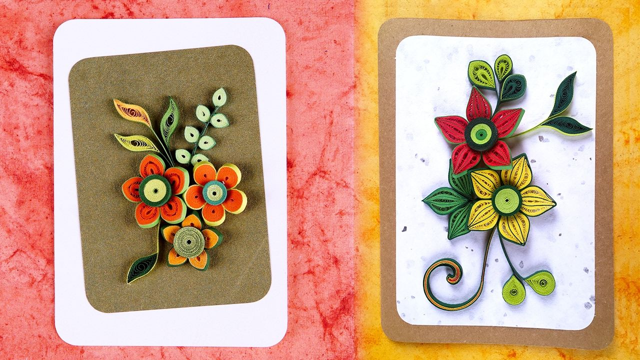 How To Make Homemade Greeting Cards Paper Quilling Greeting Cards