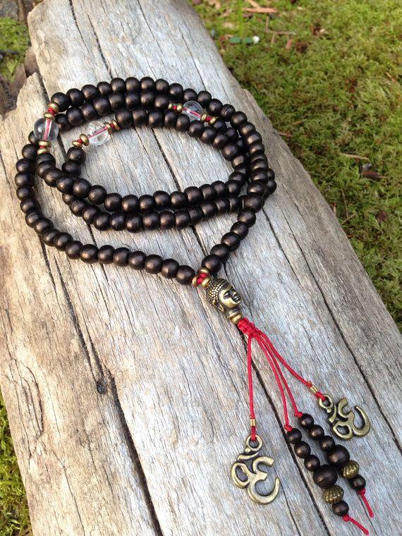 Namaste Goddess Silk Wrap Bracelet Yoga Jewelry Wrap Bracelet Bohemian Necklace Spiritual Jewelry Meditation Bracelet Birthday Gift For Her