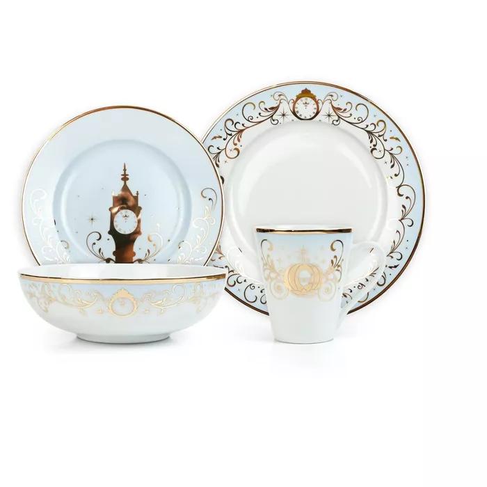 Robe Factory Llc Disney Themed 16 Piece Ceramic Dinnerware Set Collection 1 Plates Bowls Mugs In 2020 Ceramic Dinnerware Set Ceramic Dinnerware Dinnerware Set