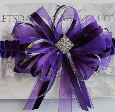 Regal Purple Prom Garter
