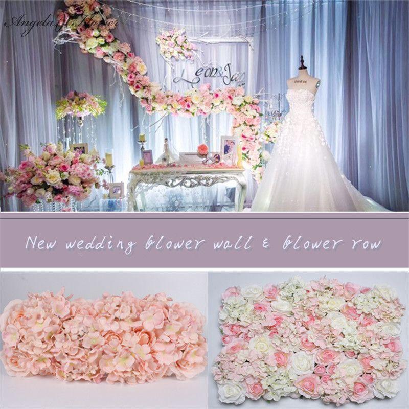 10 Stucke Original Design Hochzeit Blume Wand Und Reihe Silk