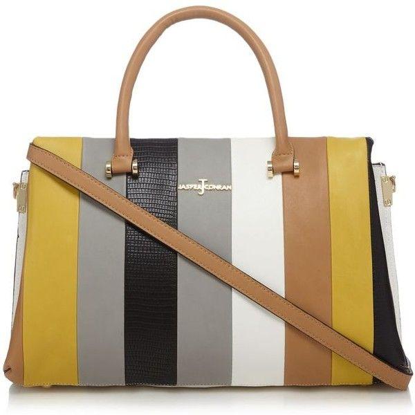 J By Jasper Conran Multi Coloured Block Grab Bag 81 Liked On Polyvore Featuring Bags Handbags Colorblock Purse Croc Embossed