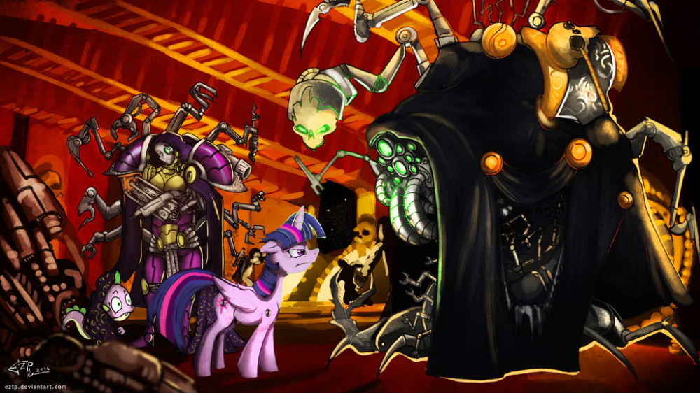 1066829 Alicorn Angry Armor Artist Eztp Augmented Chaos Clothes Commission Crossover Cyborg Dark Mechanicus F Pony Twilight Sparkle Warhammer 40k