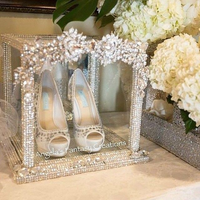 gorgeous way to display your wedding shoes