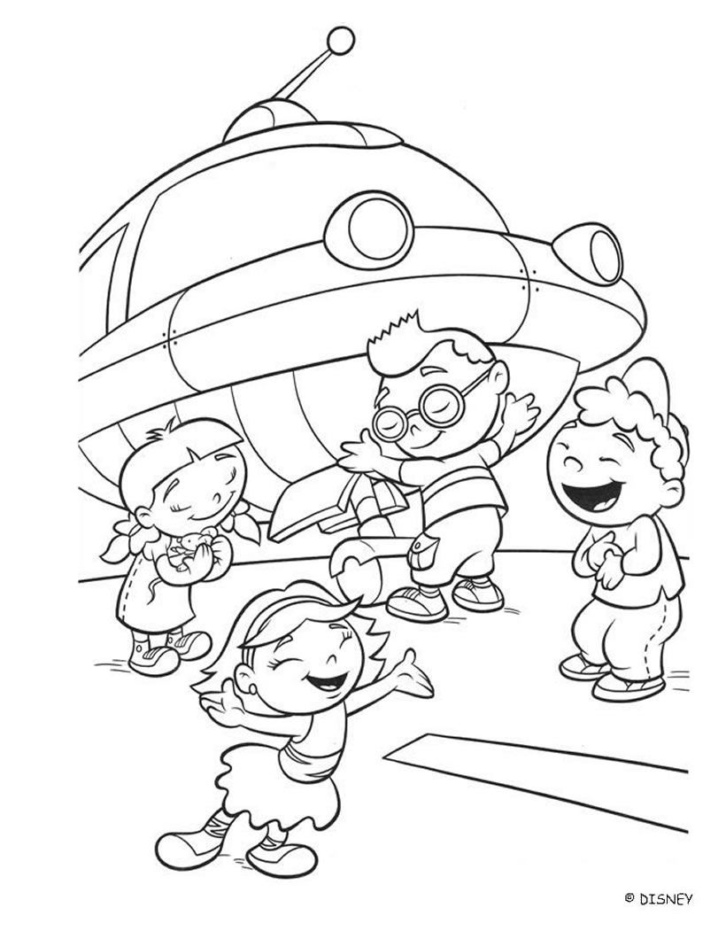 Little einsteins and rocket coloring page einsteins pinterest