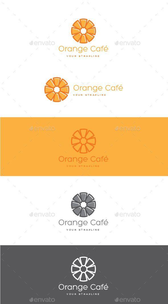 Orange Cafe Logo Design Template Vector Logotype Download It Here