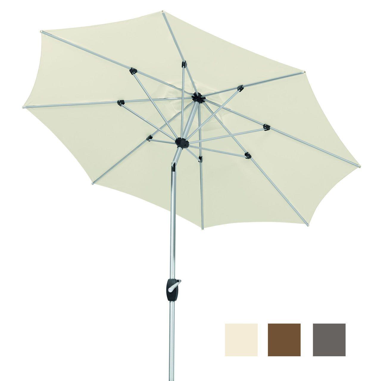 Sonnenschirm weiß halbrund Balkon Schirm Gartenschirm Sonnenschutz