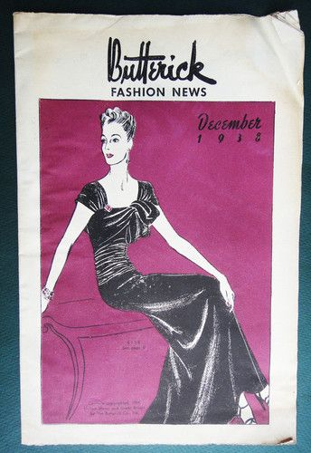 Butterick Fashion News, December 1938 featuring Butterick 8156