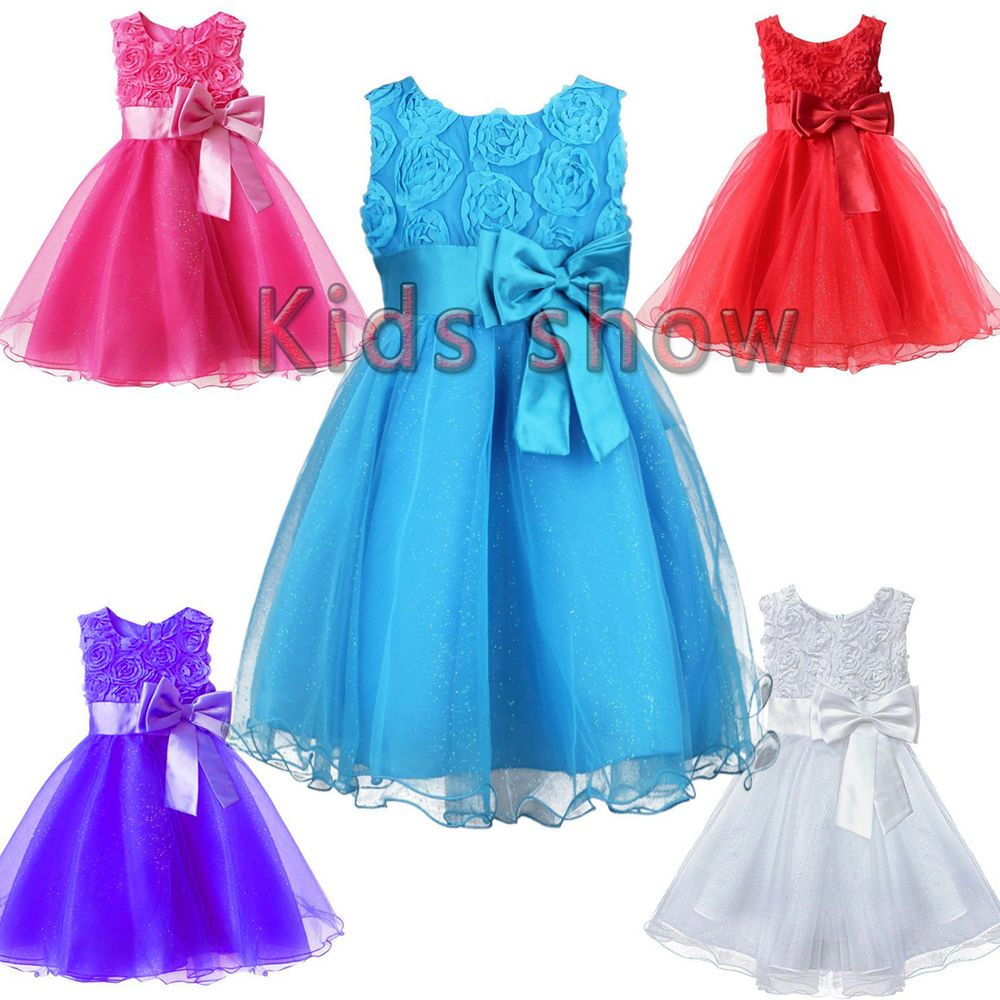 Details about Girl Baby Party/Flower/Formal/Wedding/Princess/Prom ...