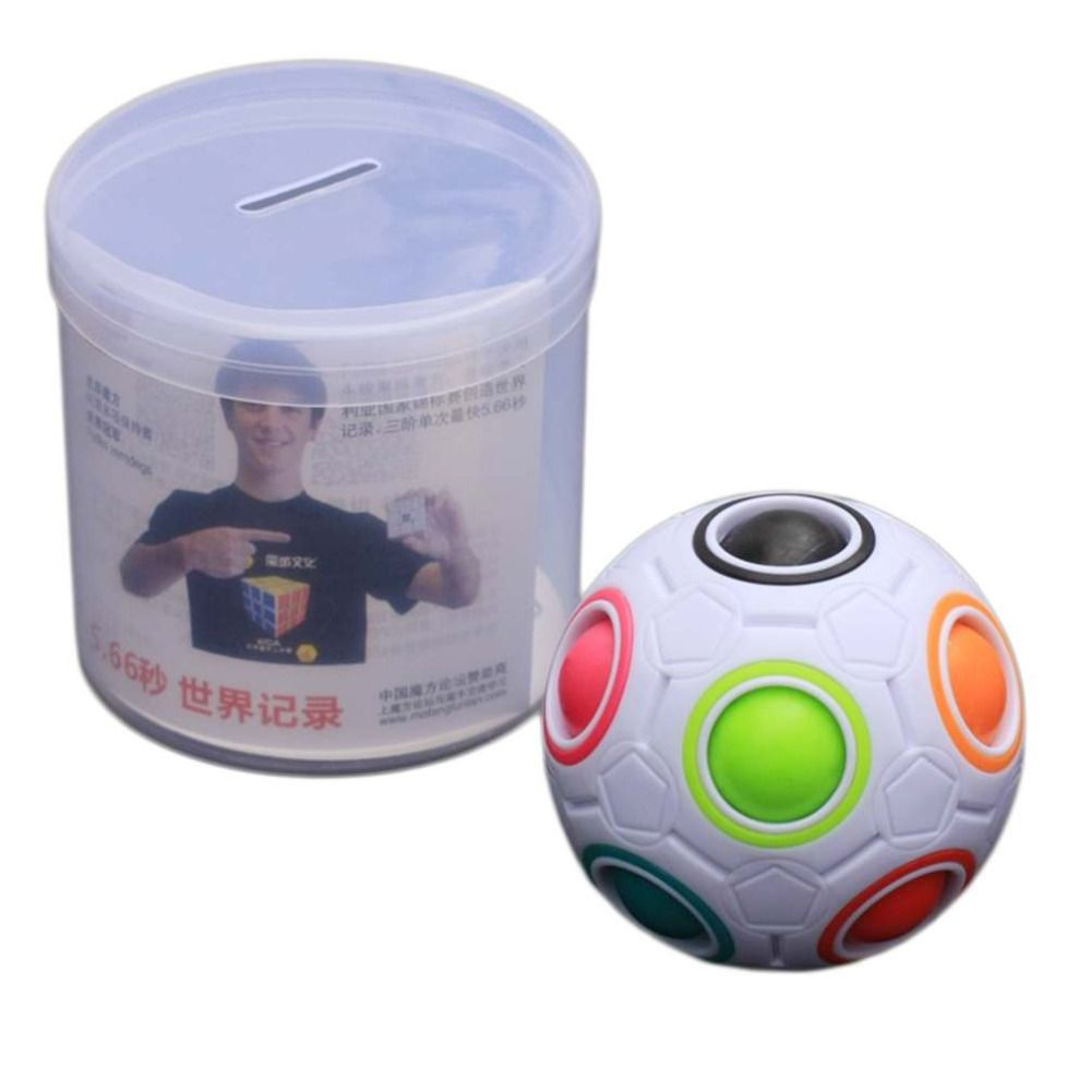 Hot Kreative Kinder Kid Spharische Regenbogen Ball Fussball