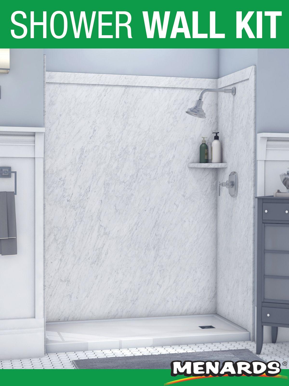 Flexstone Royale 60 X 36 Frost Bathtub Shower Wall Surround In 2020 Shower Wall Shower Wall Kits Tub Surround
