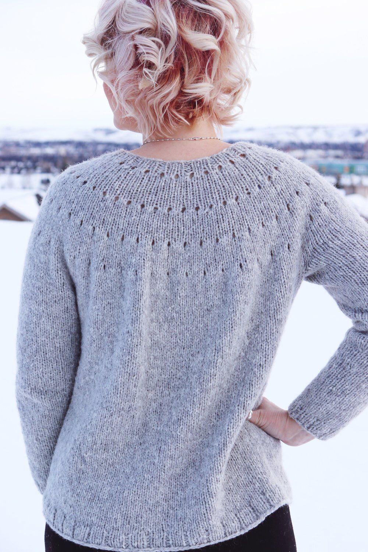 Knitting A Top Down Yoke Sweater - The Easy Eyelet Yoke ...
