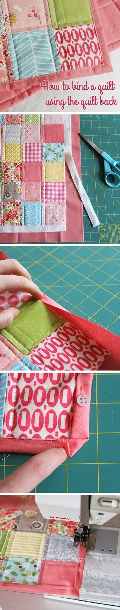 Afwerken Van Een Quilt.Binding A Quilt With The Quilt Back Quilt Afwerken