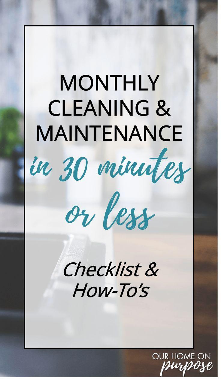 Photo of Monatliche Reinigung und Wartung in höchstens 30 Minuten – unser Zuhause