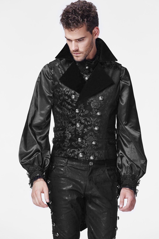 Top photo n°1 : Veste gothique homme sans manches | vêtements  ER71