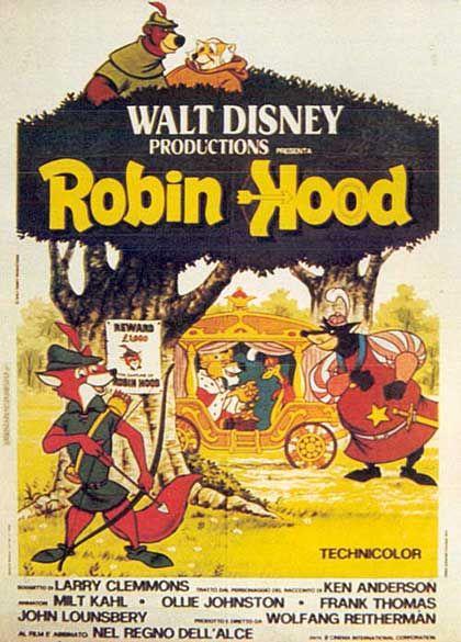 Robin Hood 1973 Media Entertainment Pinterest Cine Disney