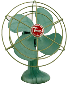 Love this vintage fan