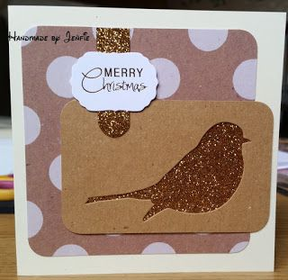 Handmade by Jenfie Krafty Christmas Gold Robin Craftwork Cards