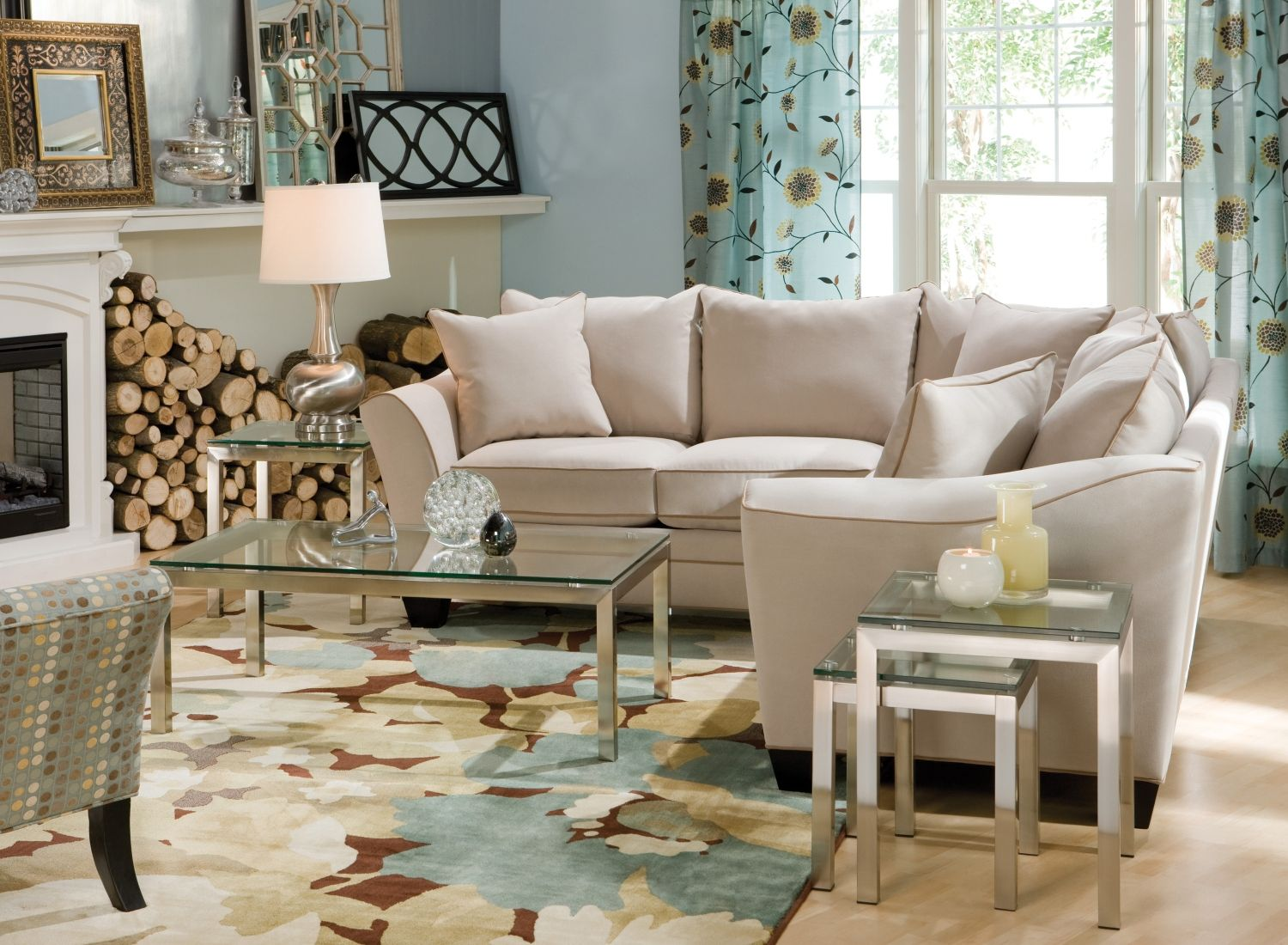 Raymour And Flanigan Living Room Sets Serenity Its What This Elegant Foresthill 3 Pc Microfiber