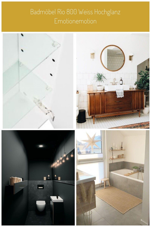 Spiegelschrank 90cm Inkl Design Led Lampe Und Glasboden Weiss Hochglanz Emotionemotion Bathroom Furniture Badmobel Rio 800 Weiss Hochglanz Glasboden Und Bad Fliesen