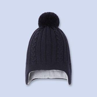 Cable knit pom-pom hat - Boy - NAVY BLUE - Jacadi Paris   36 mois 3 ... 121c4979932