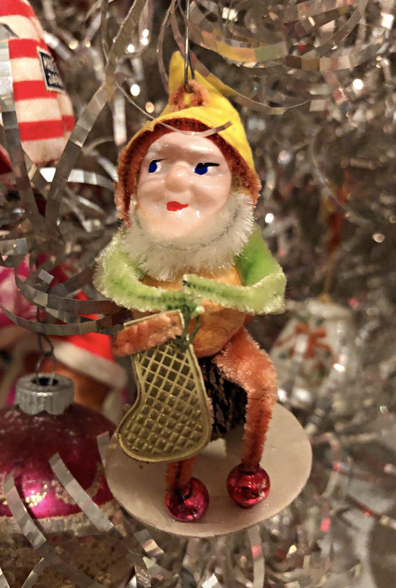 1950s Elf Gnome Ornament Vintage Christmas Retro Christmas Vintage Christmas Ornaments