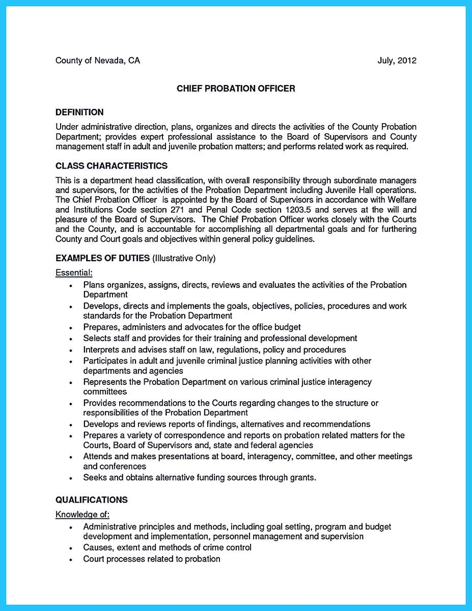 Cool Perfect Correctional Officer Resume To Get Noticed Check More At