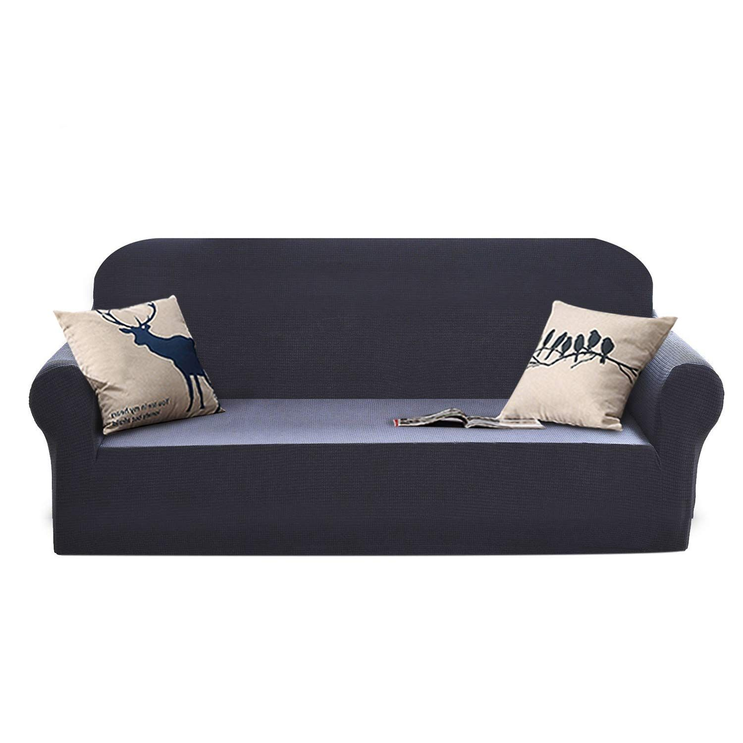 YEMYHOM High Stretch Couch Covers Jacquard Dog Sofa Covers 3 ...