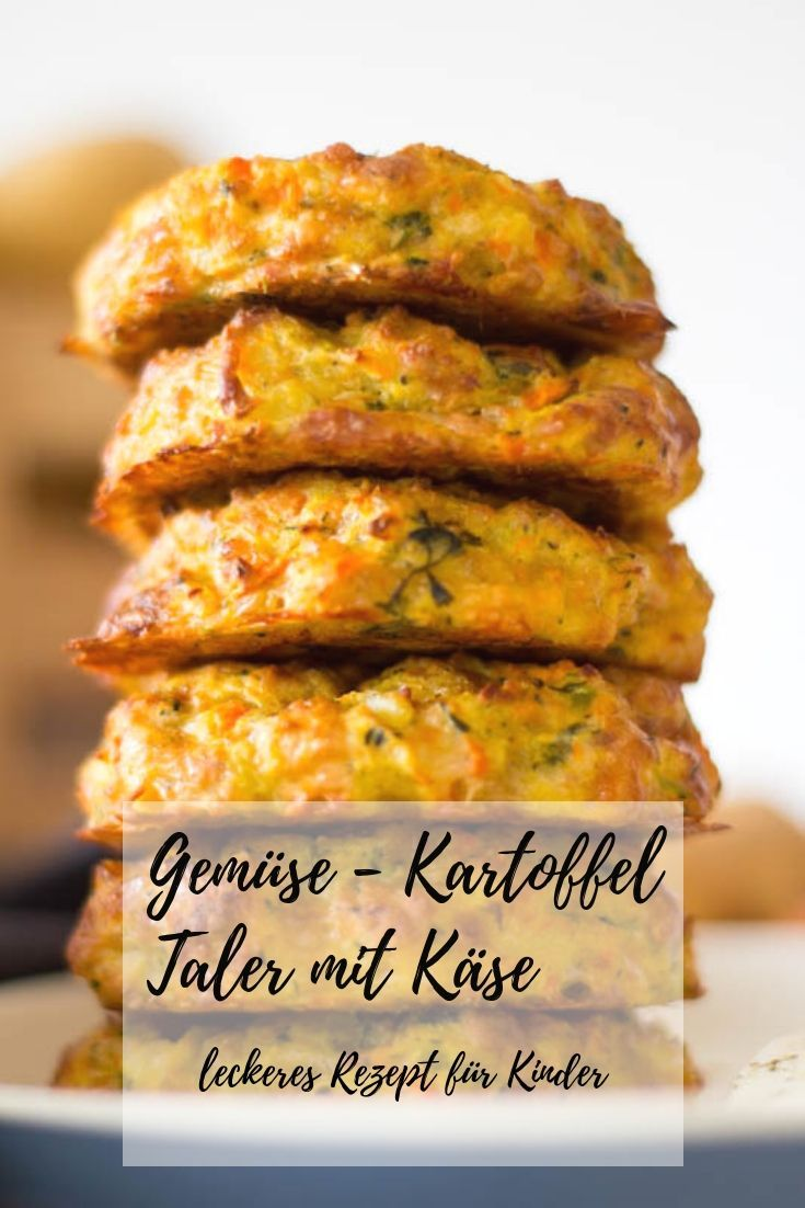 Photo of Vegetable and potato thaler with cheese – quick & easy ⋆ Favorite two * mom & food blog