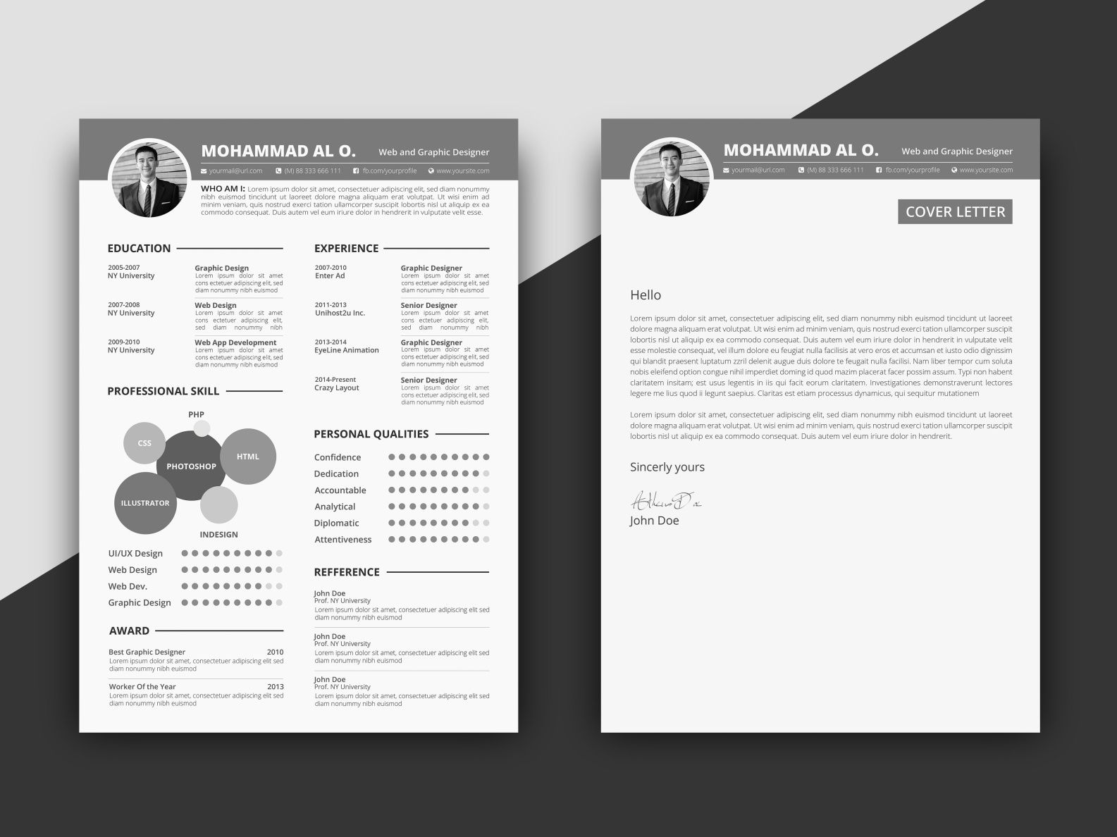 Free Infographic Cv Template Cover Letter Indesign Resume Template Cv Template Cv Template Free