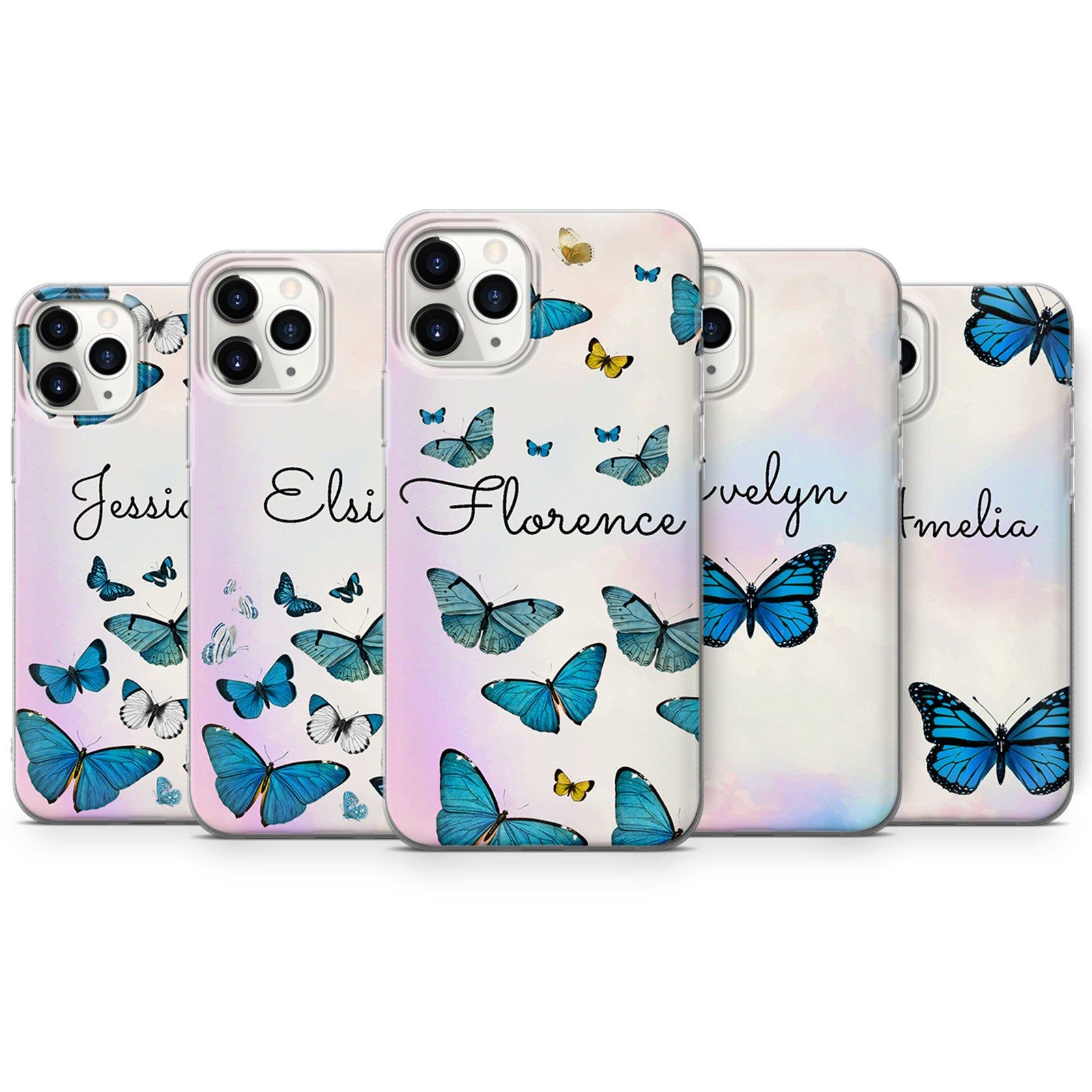 Personalised Butterfly Phone Case Initials Custom Cover Iphone 12 11 Pro Xr Xs 8 7 Samsung S10 S20 S21 A40 A50 A51 Huawei P20 P30 Lite In 2021 Iphone Cover Phone Cases Phone Case Design