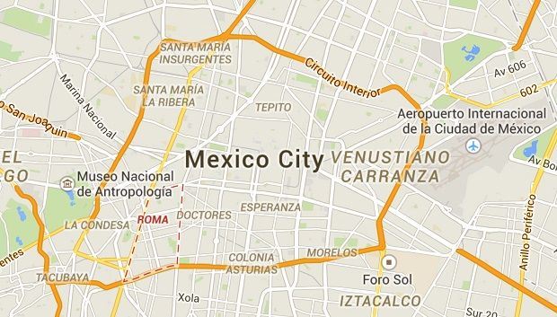 Image result for map of mexico city neighborhoods | Mexico ...