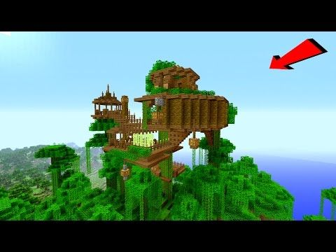Minecraft How To Build A Jungle Village X2f Treehouse Tutorial