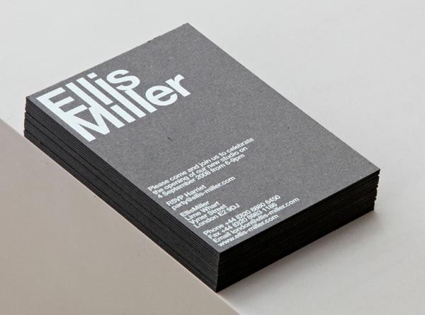 Ellis Miller architects - Business Cards by Cartlidge Levene
