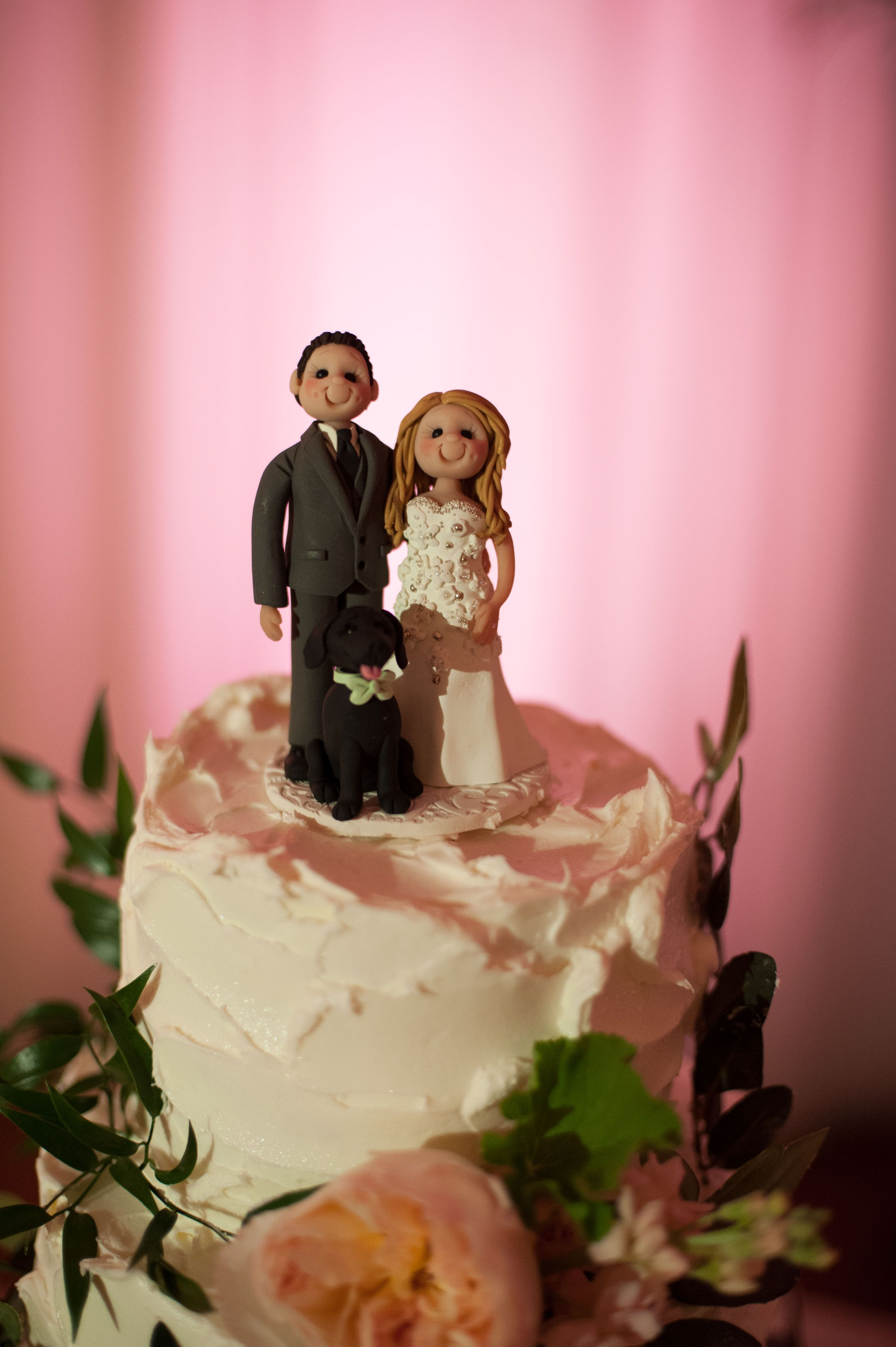 Clay wedding cake topper by syshopclayinaround